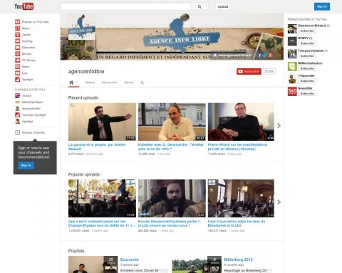 agenceinfolibre sur youtube